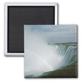 Arco iris de Niagara Falls Imán Cuadrado