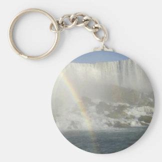 Arco iris de Niagara Falls Llaveros