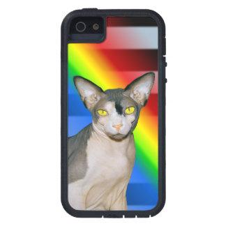 arco iris de Ninja del gato del caso el | Sphynx d iPhone 5 Case-Mate Cárcasa