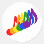 Arco iris de notas musicales pegatina