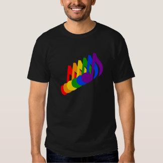 Arco iris de notas musicales remera
