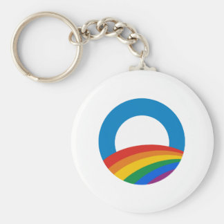 Arco iris de Obama Llavero