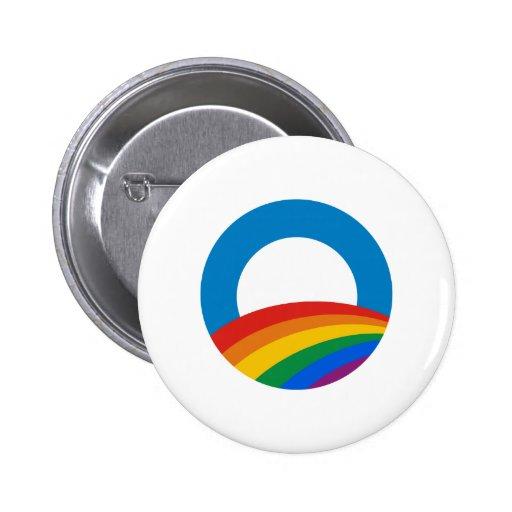 Arco iris de Obama Pin Redondo De 2 Pulgadas