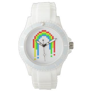 Arco iris de ocho bites del goteo relojes de mano
