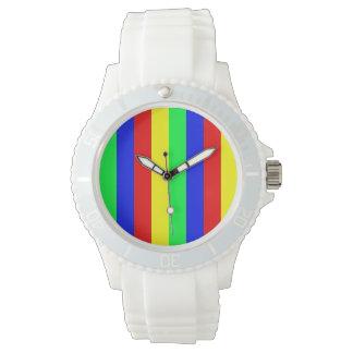 Arco iris de ocho bites relojes de mano