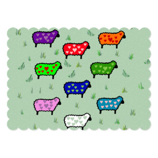 Arco iris de ovejas invitación 12,7 x 17,8 cm