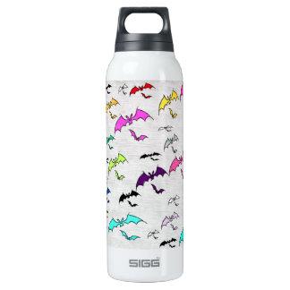 Arco iris de palos botella isotérmica de agua