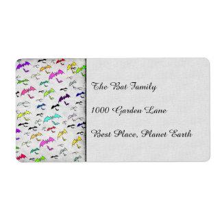 Arco iris de palos etiqueta de envío