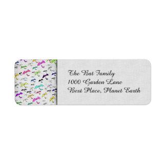 Arco iris de palos etiqueta de remite