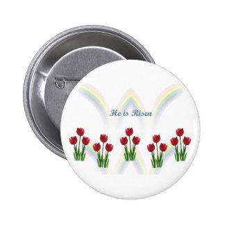 Arco iris de Pascua Pin Redondo De 2 Pulgadas