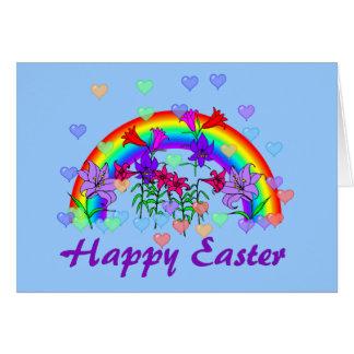 Arco iris de Pascua Tarjeta De Felicitación