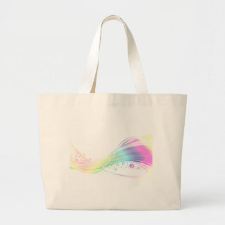 Arco iris de Pawprint Bolsas Lienzo