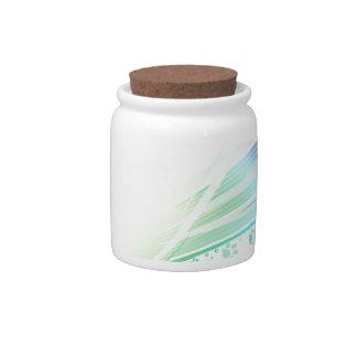 Arco iris de Pawprint Jarra Para Caramelo
