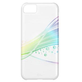 Arco iris de Pawprint Funda Para iPhone 5C