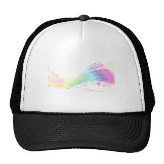 Arco iris de Pawprint Gorra