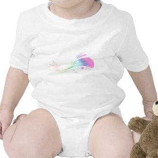 Arco iris de Pawprint Traje De Bebé