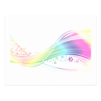 Arco iris de Pawprint Postales