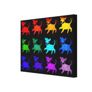 Arco iris de perros impresiones de lienzo