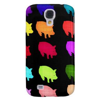 Arco iris de Piggies Carcasa Para Galaxy S4