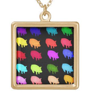 Arco iris de Piggies Pendiente Personalizado