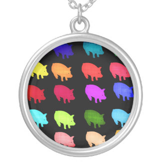 Arco iris de Piggies Collares Personalizados