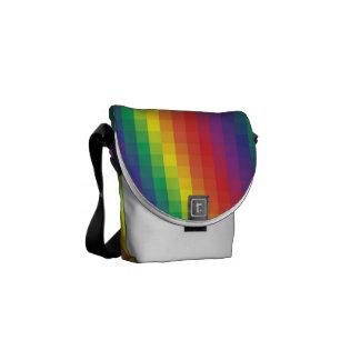 Arco iris de Pixelated - la mini bolsa de mensajer Bolsas De Mensajeria