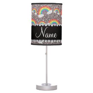 Arco iris de plata conocidos personalizados del br lámpara de escritorio