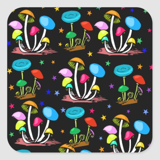 Arco iris de setas colcomanias cuadradas personalizadas