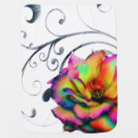 Arco iris de Swirly subió Manta De Bebé