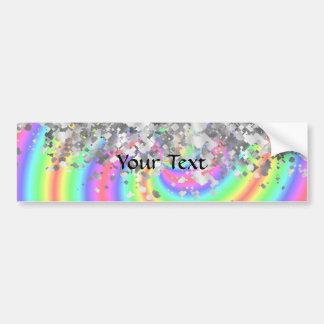 Arco iris de Swirly y falso brillo Pegatina Para Auto