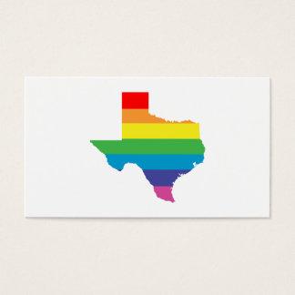 arco iris de Tejas Tarjetas De Visita