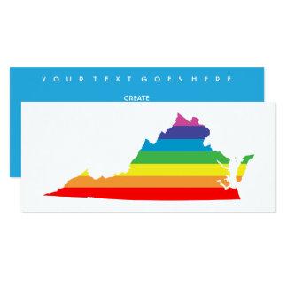"""arco iris de Virginia Invitación 4"""" X 9.25"""""""