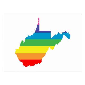 arco iris de Virginia Occidental Postales