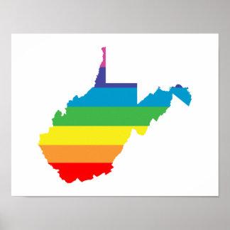 arco iris de Virginia Occidental Póster