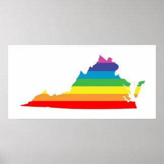 arco iris de Virginia Póster