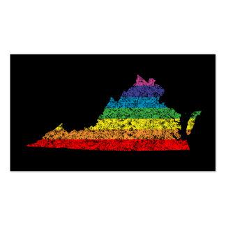 arco iris de Virginia Tarjetas De Visita