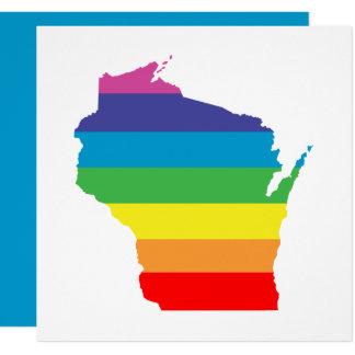 "arco iris de Wisconsin Invitación 5.25"" X 5.25"""