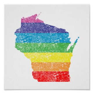 arco iris de Wisconsin Póster