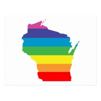 arco iris de Wisconsin Tarjetas Postales