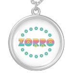 Arco iris de Zorro Flores Pendiente Personalizado