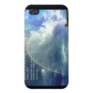 Arco iris del 111:2 del salmo iPhone 4/4S fundas