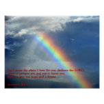 Arco iris del 29:11 de Jeremiah Poster