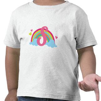 Arco iris del alfabeto de la letra S del monograma Camiseta