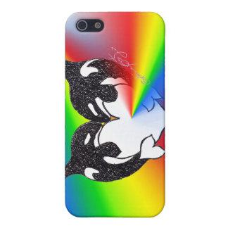 Arco iris del amor de la orca iPhone 5 coberturas