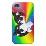 Arco iris del amor de la orca iPhone 4/4S carcasa