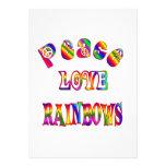Arco iris del amor de la paz invitacion personal
