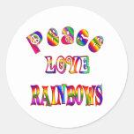 Arco iris del amor de la paz pegatinas