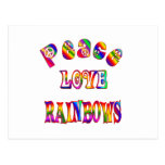 Arco iris del amor de la paz postal