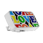 Arco iris del amor laptop altavoz