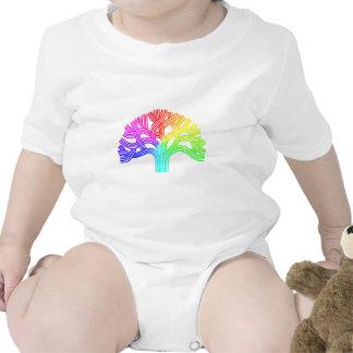 Arco iris del árbol de Oakland Trajes De Bebé